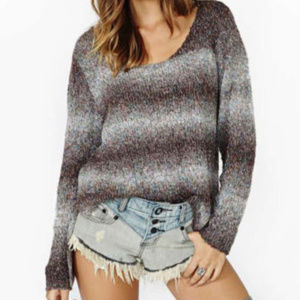 Nasty Gal Size M Ombre Tweed Chunky Sweater